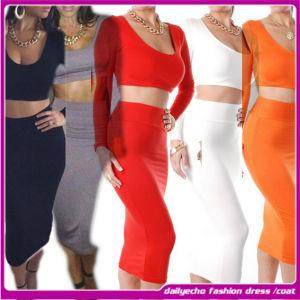 Cheap 2014 New Sexy Women Fashion Two Pieces Bandage Dress/ Plus Size Night Club Dress