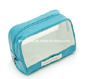 Fashion White / Sky Blue PU Cosmetic Bag / Fashion Toliet Bag (KCC42) pictures & photos