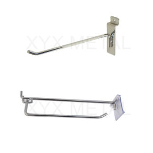 Shopfitting Chrome Metal Steel Slatwall Pegboard Accessories Wire Display Hook pictures & photos