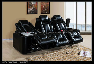 Home Theatre Products Black Leather Reclining Recliner Motion Cinema Chair