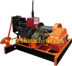 Diesel Winch 5ton With Handle Brake pictures & photos