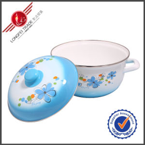 Hot Selling Enamel Cookware Stauce Pot pictures & photos