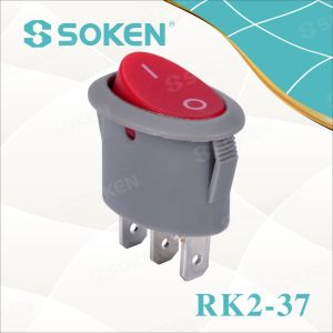Rk2-37A Oval Rocker Switch pictures & photos