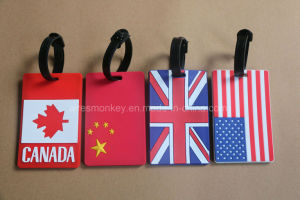 2017 Wholesale Cheap 3D Custom PVC Luggage Tag pictures & photos