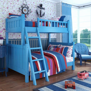 American Style Wooden Bunk Bed Kids Bunk Bed (M-X1008) pictures & photos