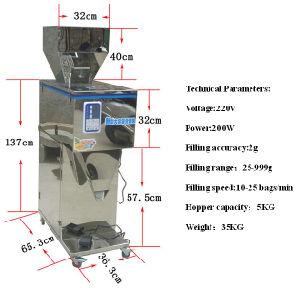 25-999g Semi-Auto Bag Packer for Packing Granule/Powder /Tea