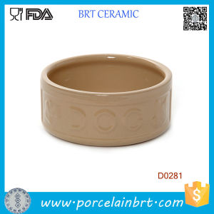 Round Shape Portable Chinese Handamde Ceramic Dog Bowl pictures & photos