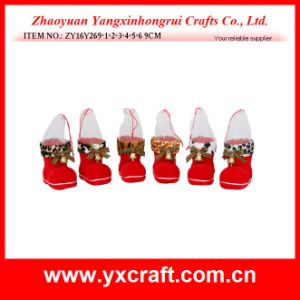 Christmas Decoration (ZY16Y032-1-2 14CM) Christmas Art Boot Christmas Crib pictures & photos