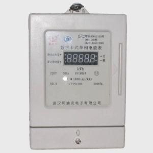 Single Phase RF Card Prepaid Electrical Meter with LCD Display pictures & photos