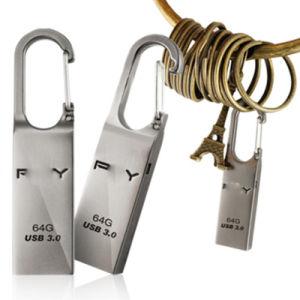 USB Flash Drive 64GB 32GB 16GB USB 3.0 Loop Pen Drives Waterproof Metal Lock Key Chain pictures & photos
