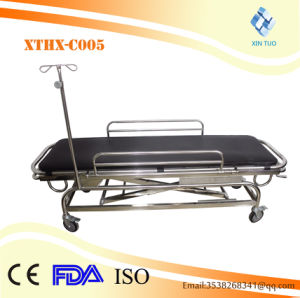 Height Adjustable Hydraulic Patient Transfer Medical Trolley / Stretcher Cart pictures & photos