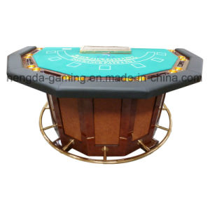 High-Grade Hexagonal Poker Table, Baccarat and Blackjack Game Can Use The Table. VIP Hall Dedicated Game of Poker Chips Table