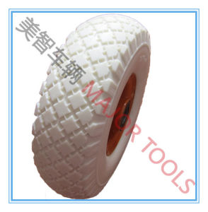 Hot Selling Colorful PU Foam Wheel 300-4 Metal Rim PU Foam Wheel pictures & photos
