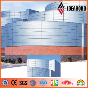 Ideabond External Wall Silver Cheap Aluminum Cladding Wall Panel (AF-408) pictures & photos