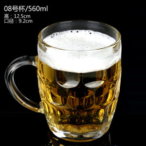 ISO Certified Glass Beer Mug/Beer Cup/Beer Glass, Tea, Water, Milk Glass Cup Mug for Drinking
