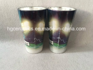 16oz Metallic White Color Sublimation Glass Mug pictures & photos