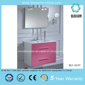 PVC Waterproof Pink Bathroom Cabinet, Vanity, Furniture (BLS-16137) pictures & photos