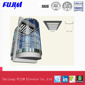 Highly Secure Safety Laminated Glass Sightseeing Elevator with Radiation Function pictures & photos