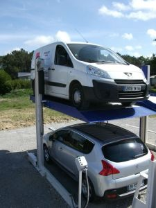 2015 Best Price Double Post Parking Lift