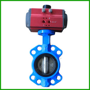 Pneumatic Actuated Wafer Butterfly Valve pictures & photos