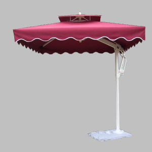 Windproof Aluminium Umbrella Patio with 8 Ribs (UA-2525/6)