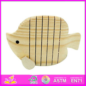2014 New Wooden Painting Kids Fish Toy, Popualr DIY Kids Fish Toy, Hot Sale Educational Paint Kids Fish Toy W03A017 pictures & photos