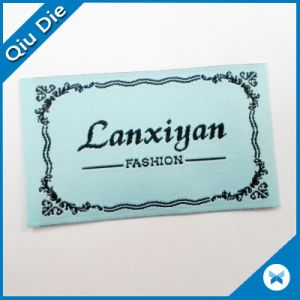 China Factory Custom End Folding Brand Woven Label for Garment\Clothing pictures & photos
