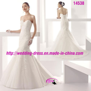 Charming Lace Sweetheart Organza Wedding Dress with Lace up pictures & photos