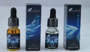 Manufacture of Food Grade E Liuid Realfeel Glass Bottle 10ml Hangboo E Juice E-Liquid