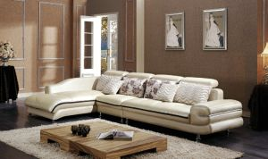 Modern Design Home Use L Shape Leather Modern Sectional Sofa pictures & photos
