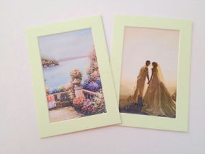 Fashion Design Acid Free Single Opening Photo Picture Frame Matboard