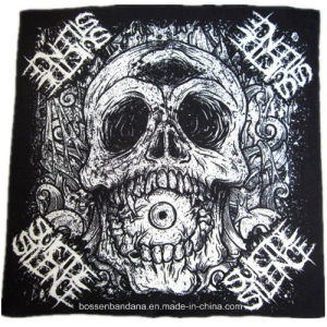 Factory OEM Produce Customized Design Printed Cotton Black Square Sports Big Handkerchief pictures & photos
