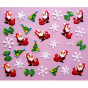 Supply OEM 3D Christmas Nail Sticker pictures & photos