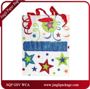 Shopping Paper Bag Colored Gift Paper Bags for Birthday pictures & photos