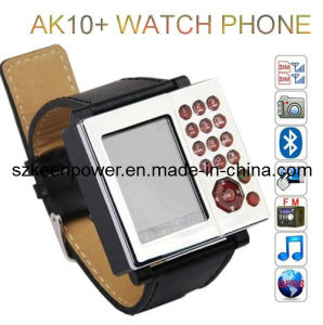 Ak10+ Watch Phone Quad Band Dual SIM Cards with Camera Moble Phone pictures & photos