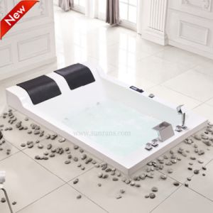 two person freestanding tub. Luxury Drop in Corner Clear Acrylic Bathtub for Two Person China
