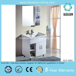 Two Door and Shelf Rectangle Mirror Bathroom Cabinet (BLS-16061) pictures & photos