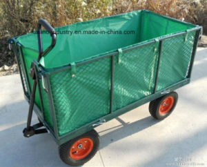 1000lbs Large Garden Wagon Mesh Cart with Tarpaulin (tc1840h) pictures & photos