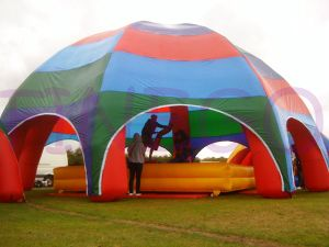 Best-Selling Colorful Arched Roof Inflatable Beach Tent pictures & photos