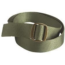 Fashion Custom Fabric Army Green Webbing Belt