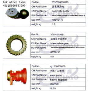 Sinotruck HOWO Truck Spare Parts Oil Pump Intermadiate Gear pictures & photos