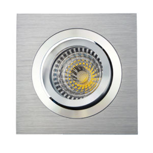 Lathe Aluminum GU10 MR16 Sauqre Tilt Recessed LED Ceiling Light (LT2301) pictures & photos