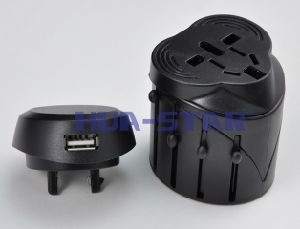 Swiss Adapter with USB Charger (HS-T098U) pictures & photos