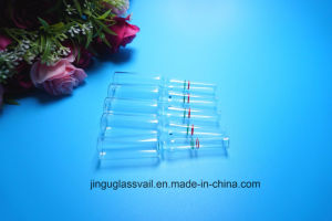 2ml Clear Glass Ampoule with Customized Color Decorate Ring pictures & photos