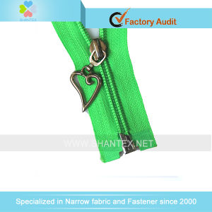 5# Nylon Zipper Fancy Slider O/E pictures & photos
