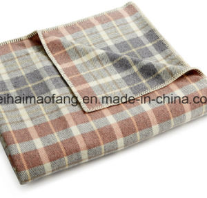 Woven Woollen Pure Virgin Wool Blanket pictures & photos