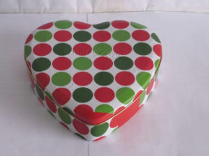 Heart Shape Chocolate Tin Box with Custom Printing pictures & photos