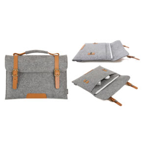 Guangzhou Suppliers Felt Tote Computer Case Laptop Bag Pouch Coverer (L-017) pictures & photos