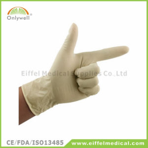 Sterilized Disposable Medical Latex Powdered Surgical Glove pictures & photos