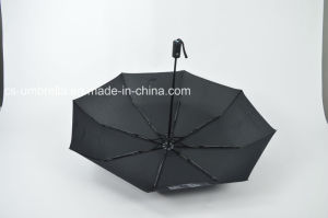 Solid Pongee Fabric Auto Open&Close 3 Folding Umbrella (YS-3F0010) pictures & photos
